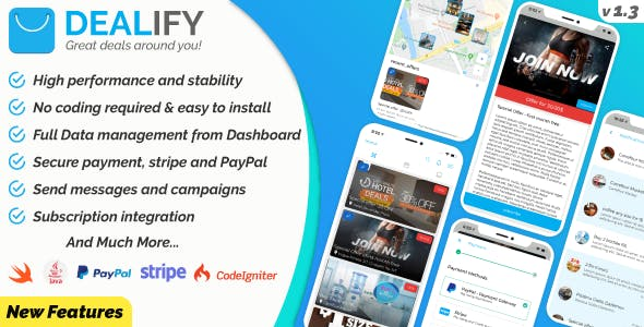 Offers & Deals - Advanced Order System with PayPal & Stripe - Native Apps iOS & Android - v1.3