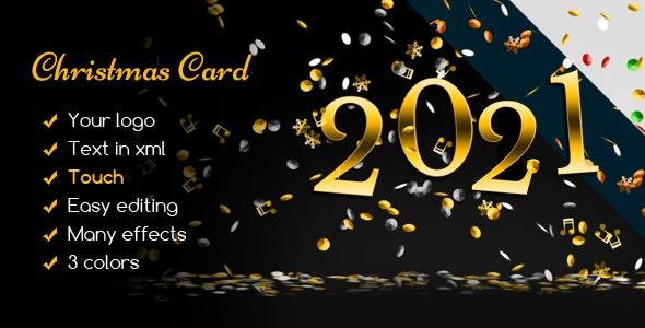 Christmas Card Elegant Confetti Rain - CodeCanyon Item for Sale
