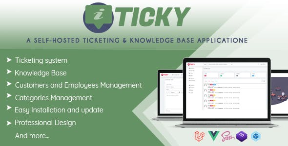 Ticky Helpdesk - Support Ticketing System & Knowledge base
