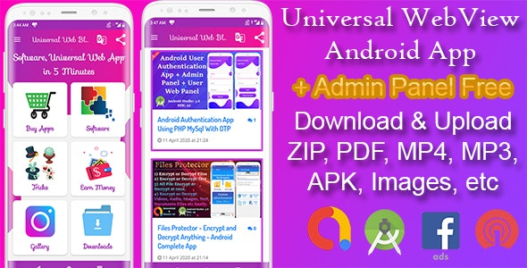 Universal WebView Android App with Admin Panel - CodeCanyon Item for Sale