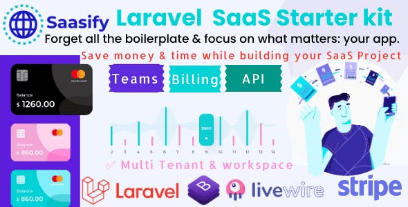 Saasify, advance Laravel SaaS Starter kit