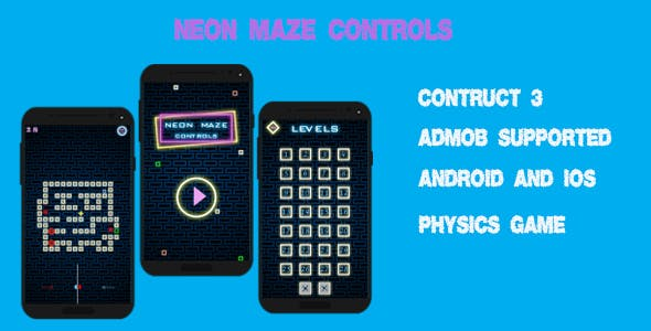Neon Maze Control - HTML5 (Construct 3)