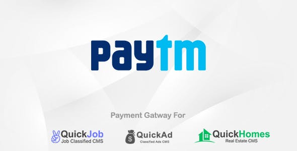 Paytm Payment Plugin For QuickCMS