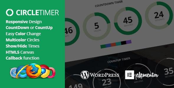 CircleTimer - Addon for Elementor - CodeCanyon Item for Sale