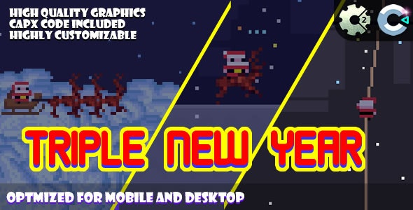 Triple New Year 3in1 (C2, C3, HTML5) Game. - CodeCanyon Item for Sale