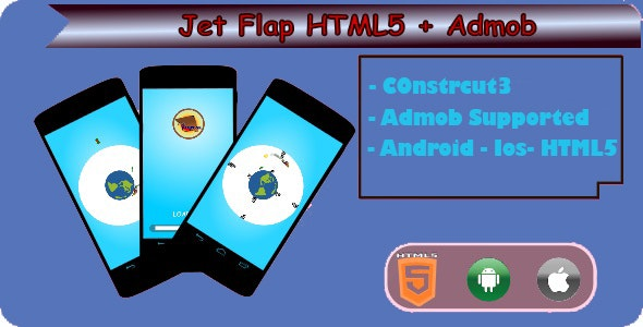 Jet Flap - HTML5 Game (Construct 3) - CodeCanyon Item for Sale
