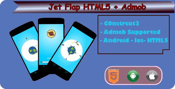 Jet Flap - HTML5 Game (Construct 3)