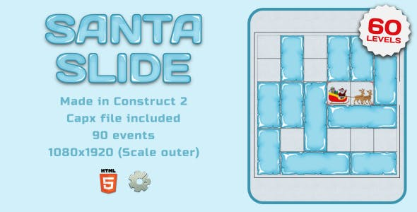 Santa Slide - HTML5 Gasual game