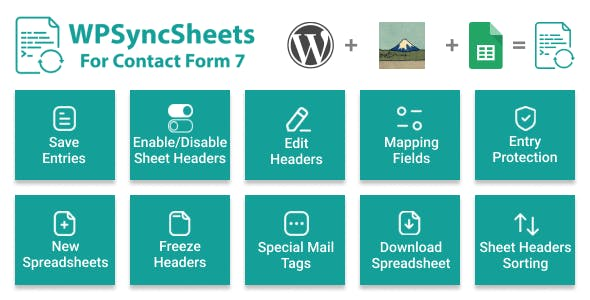 WPSyncSheets For Contact Form 7 - Contact Form 7 Google Spreadsheet Addon