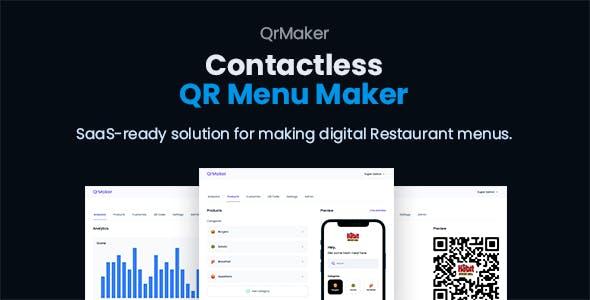 QrMaker – SaaS – Contactless QR Restaurant Menu Maker