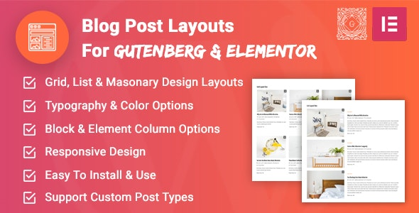 Blog Post Layouts for Gutenberg and Elementor - CodeCanyon Item for Sale