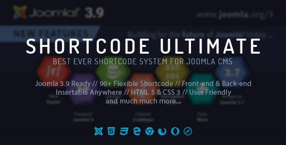 Shortcode Ultimate Plugin for Joomla