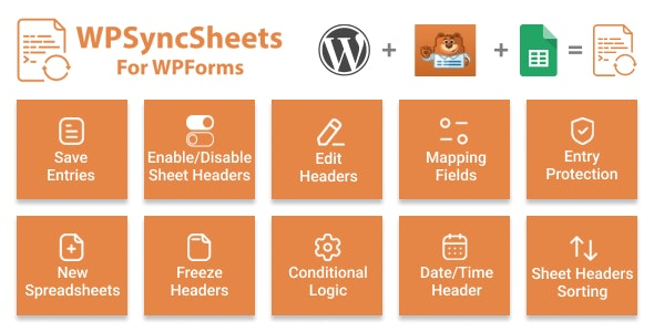 WPSyncSheets For WPForms - WPForms Google Spreadsheet Addon - CodeCanyon Item for Sale