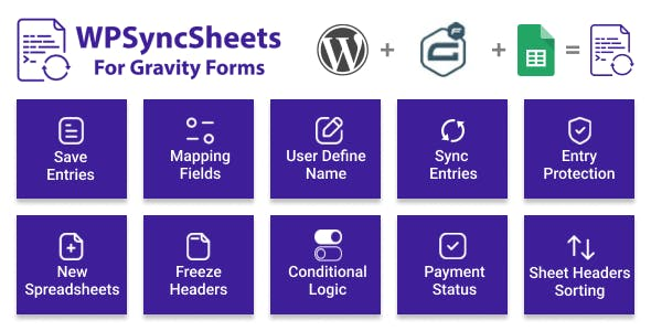 WPSyncSheets For Gravity Forms - Gravity Forms Google Spreadsheet Addon