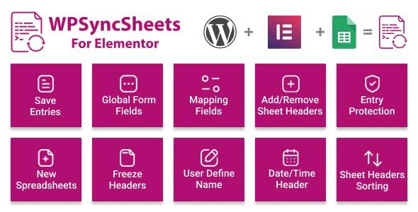 WPSyncSheets For Elementor - Elementor Pro Form Google Spreadsheet Addon