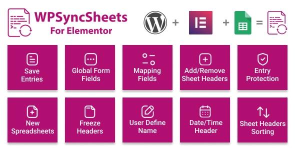 WPSyncSheets For Elementor - Elementor Pro Form Google Spreadsheet Addon - CodeCanyon Item for Sale