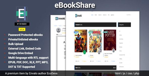 eBookShare v1.9.5 – eBook hosting and sharing script