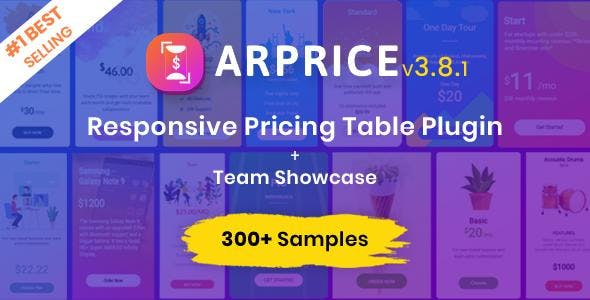 ARPrice - WordPress Pricing Table Plugin