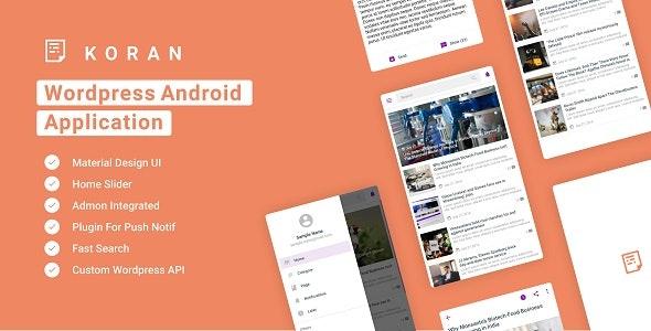Koran - Wordpress Android Application 5.0 - CodeCanyon Item for Sale