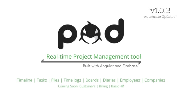 POD - Angular Project Management Software - CodeCanyon Item for Sale