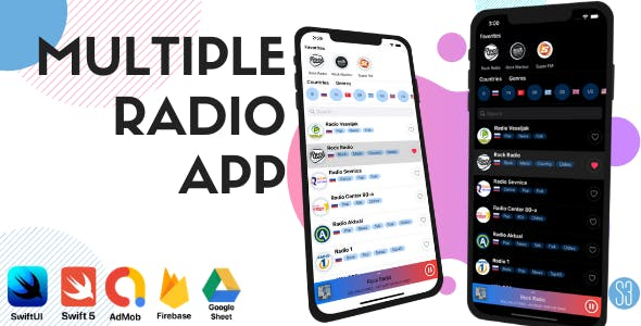 iOS SwiftUI Radio App (Radio Station, Online FM Radio, iOS 14)