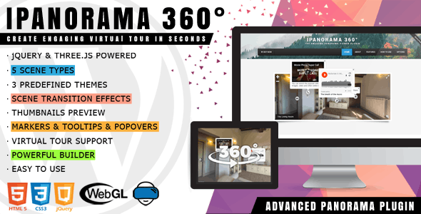 iPanorama 360° - Virtual Tour Builder for WordPress