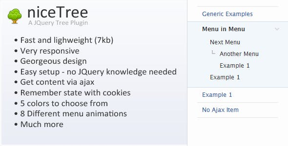 niceTree - JQuery Tree Plugin