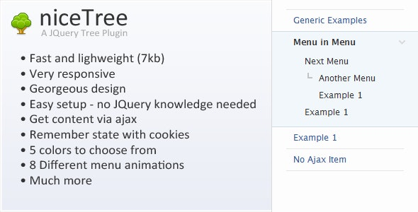 niceTree - JQuery Tree Plugin - CodeCanyon Item for Sale