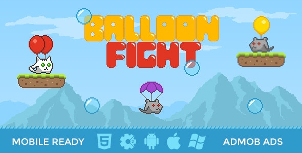 Balloon Fight | 8-bit HTML5 Game - CodeCanyon Item for Sale