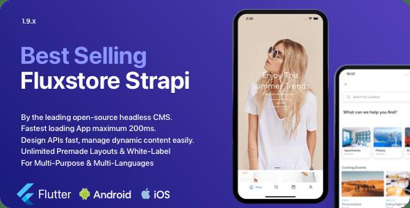 Fluxstore Strapi - Fastest Flutter App + Headless CMS Strapi