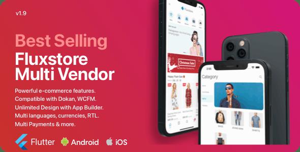 Fluxstore Multi Vendor - Flutter E-commerce Full App - CodeCanyon Item for Sale