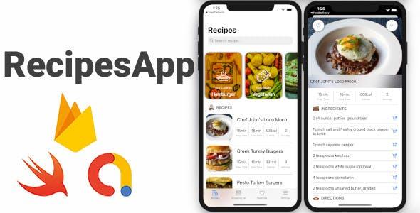 RecipesApp Full iOS Application