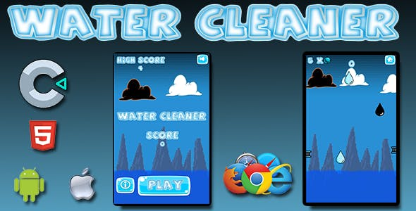 Water Cleaner - HTML5 Mobile Game