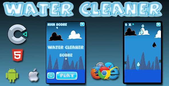 Water Cleaner - HTML5 Mobile Game - CodeCanyon Item for Sale