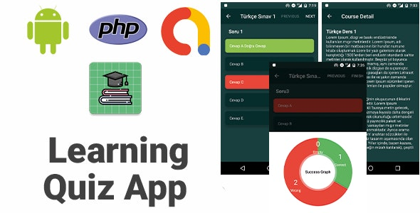 Learning Quiz App With PHP Backend | Full Android Application - CodeCanyon Item for Sale