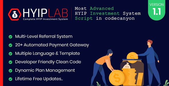 HYIPLAB v1.0 – Complete HYIP Investment System