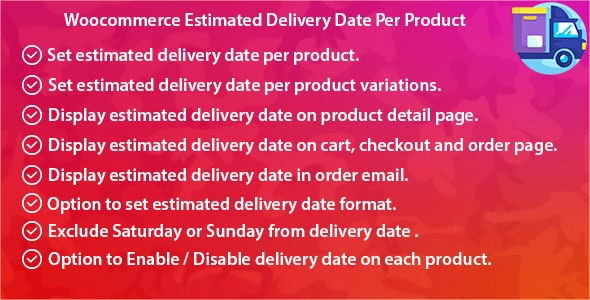 Woocommerce Estimated Delivery Date Per Product - CodeCanyon Item for Sale