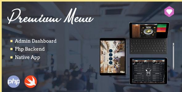 Premium Menu - iPad Menu Native App iOS Template - CodeCanyon Item for Sale