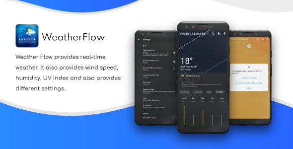 Weather Flow - Live Weather Forecast App with Admob Ads - CodeCanyon Item for Sale