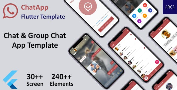 Chat & Group Chat App Template Flutter | Whatsapp Clone Flutter Template