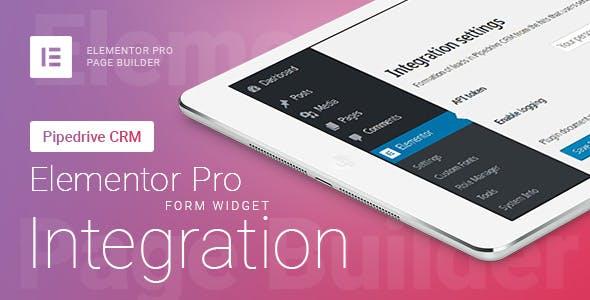 Elementor Pro Form Widget - Pipedrive CRM - Integration