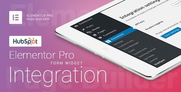 Elementor Pro Form Widget - HubSpot - Integration