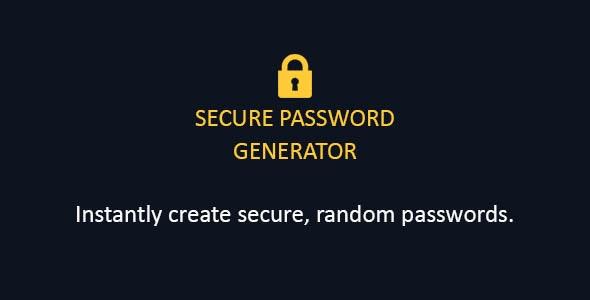 Password Generator - CodeCanyon Item for Sale