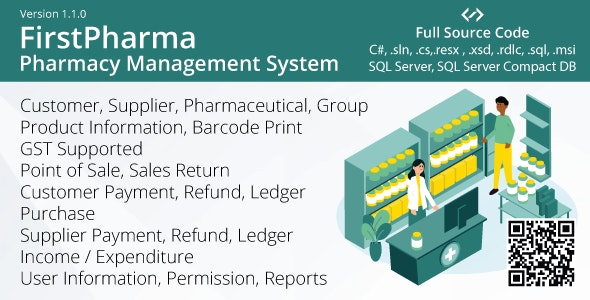 FirstPharma - Pharmacy Management System (POS, GST, C#, MSSQL) - CodeCanyon Item for Sale