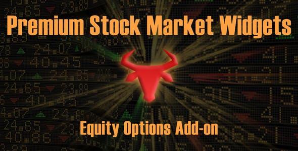 Equity Options Add-on | Premium Stock Market & Forex Widgets Plugin