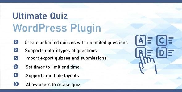 Ultimate Quiz Plugin For WordPress - CodeCanyon Item for Sale