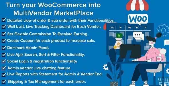 Mercado Pro - Turn your WooCommerce into Multi Vendor Marketplace