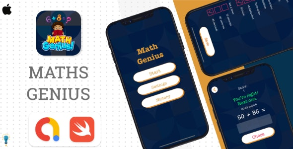 Maths Genius - Best Educational Game - CodeCanyon Item for Sale