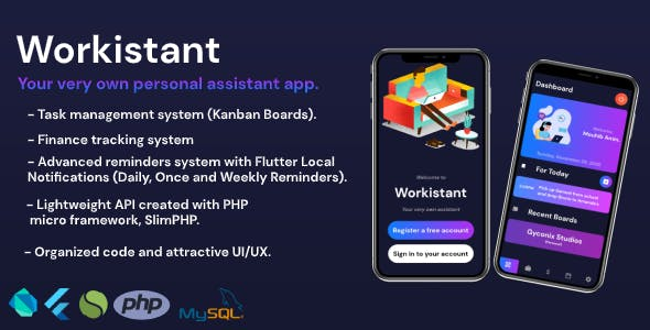 Workistant - Your very own personal assistant app.