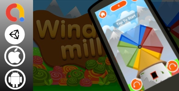Windmill Unity Casual Game Project with Admob ad for Android and iOS - CodeCanyon Item for Sale